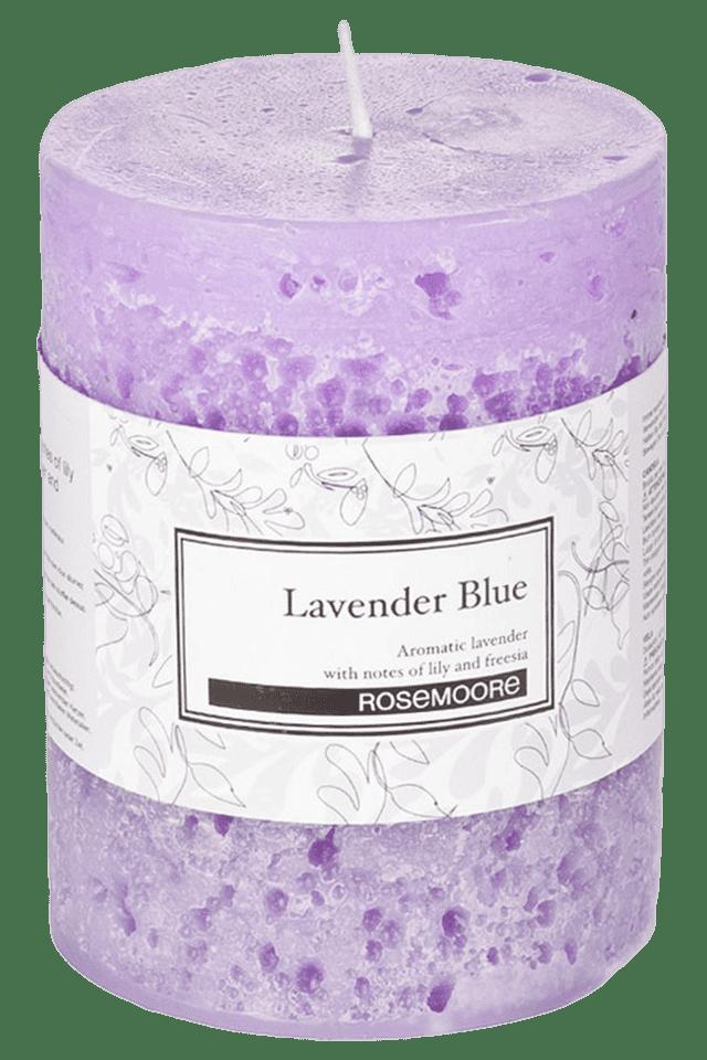 Pillar Candle Lavender Blue