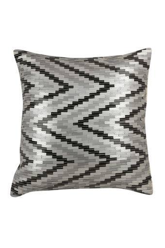Square Chevron Embellished Cushion Cover