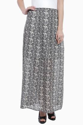 ZINK LONDON Womens Printed Flared Long Skirt