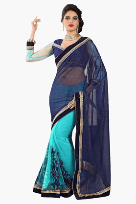 DEMARCAWomens Embroidered Saree (Buy Any Demarca Product & Get A Pair Of Matching Earrings Free) - 201151770_9308