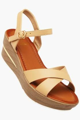 TRESMODE Womens Casual Ankle Buckle Closure Wedge Sandals - 202223346
