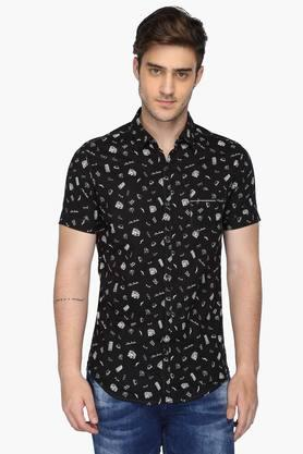 Mufti Formal Shirts (Men's) - Mens Regular Collar Printed Shirt