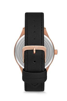 Unisex Vintage Black Dial PU Analogue Watch - FA9-VC09R22A