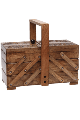 BACK TO EARTH Mango Wood 3 Step Utility Box