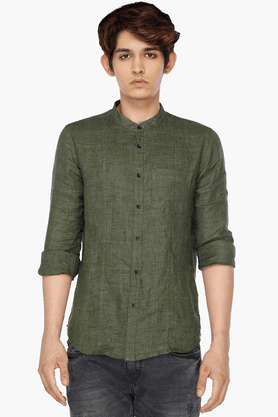 Mens Mandarin Collar Shirt