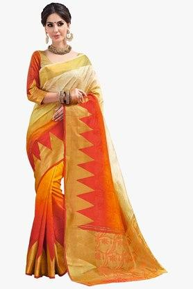 ASHIKA Womens Colour Block Brasso Saree