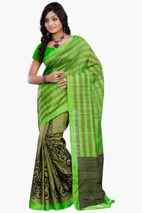 Women Bhagalpuri Art Silk Printed Saree - 202447278
