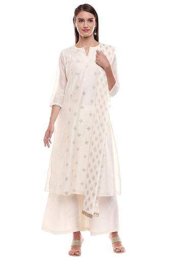 KASHISH -  Off White Salwar & Churidar Suits - Main