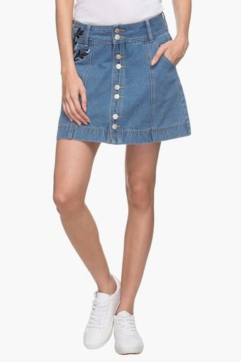 Women Assorted Embroidered Mini Skirt