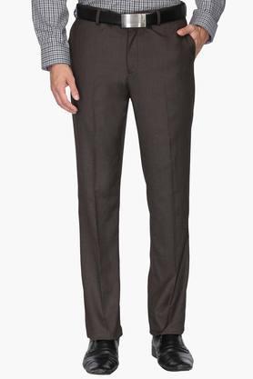BLACKBERRYSMens 4 Pocket Regular Fit Solid Formal Trousers - 202123833