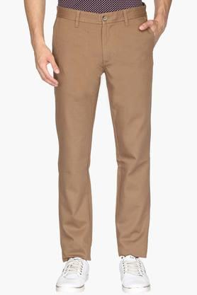 INDIAN TERRAIN Mens 4 Pocket Slim Fit Solid Trousers (Brooklyn Fit) - 202069910