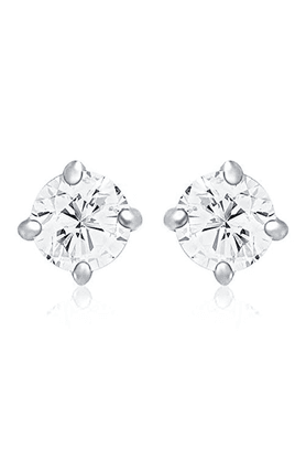 MAHI Mahi Rhodium Plated Solitaire Classic Earrings Made With Swarovski Zirconia For Women ER1195027R
