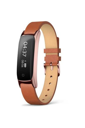 Unisex Black Dial Leather Smart Band - TW00SOS05T