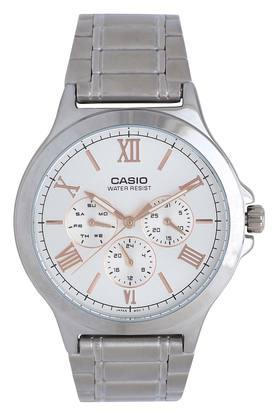 Mens White Dial Metallic Multi-Function Watch - A1686