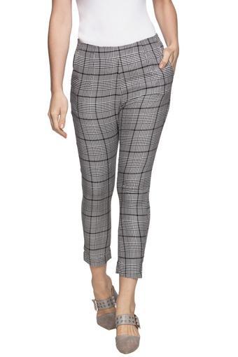 Womens 2 Pocket Checked Pants