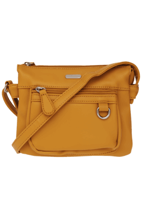 LAVIE Womens Allspice Leather Zipper Closure 3 Compartment Sling Bag (Use Code FB20 To Get 20% Off On Purchase Of Rs.1800)