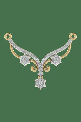 TARA JEWELLERSWomens 18 Karat Gold And Diamond Mangalsutra Pendant - 200944716_9999