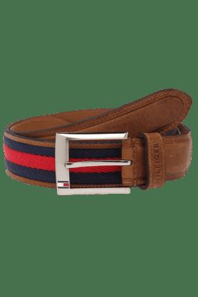 TOMMY HILFIGERMens Tan Prague Canvas Leather Belt