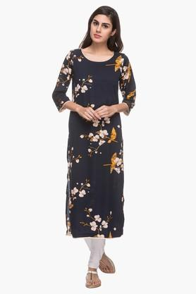 KASHISH Womens Round Neck Printed Kurta - 201919717