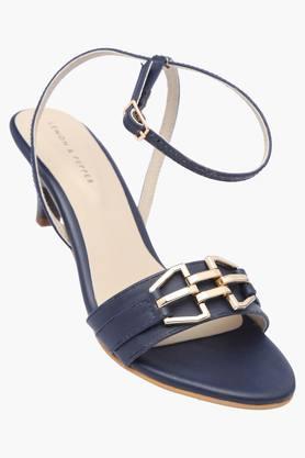 LEMON & PEPPERWomens Casual Ankle Buckle Closure Heel Sandal - 200925375