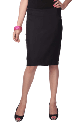 PARK AVENUE Women Blended Knee Length Skirt