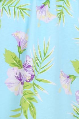Girls Off Shoulder Neck Floral Print Top
