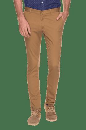 BLACKBERRYSMens Slim Fit Solid Chinos - 200889329