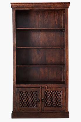 Walnut 4 Shelf Book Rack