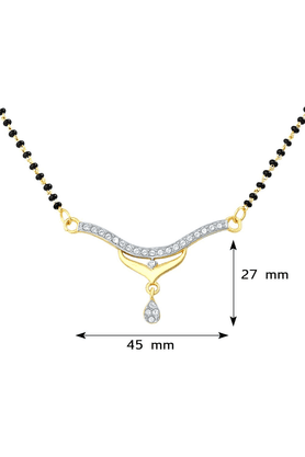 MAHI Mahi Gold Plated Mangalsutra Pendant With CZ For Women PS1191404G