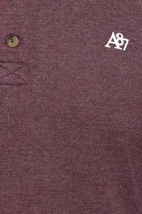 Mens Henley Neck Slub T-Shirt