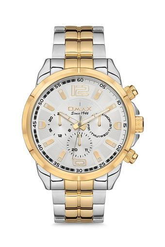 Mens Omax Masterpiece White Dial Stainless Steel Multi-Function Watch - FA9-GX14T6TI