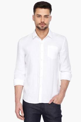 Levis Formal Shirts (Men's) - Mens Full Sleeves Casual Slub Shirt