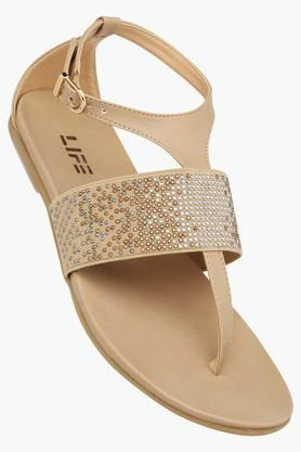 LIFE Womens Casual Wear Buckle Closure Flat Sandals - 202359008_9111