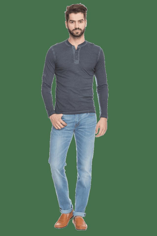 8124e4efc Buy LEVIS Mens Long Sleeves Mandarin Collar Slim Fit Slub T-Shirt ...