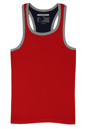 TUNA Mens Stretch Solid Round Neck Vest - 200733959