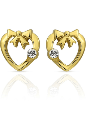 MAHI Mahi Gold Plated Love Birds Earrings With Crystals For Women ER1103694G