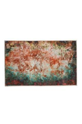Rectangular Abstract Printed Woven Textured Doormat