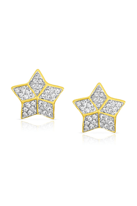 MAHI Mahi Gold Plated Star Shine Earrings With CZ For Women ER1190135G
