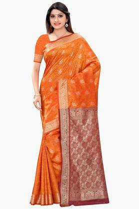 DEMARCA Womens Printed Art Silk Saree