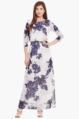 Womens Slim Fit Printed Maxi Dress
