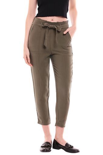 KRAUS -  OliveTrousers & Pants - Main