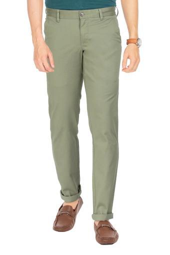 LOUIS PHILIPPE -  Olive Cargos & Trousers - Main