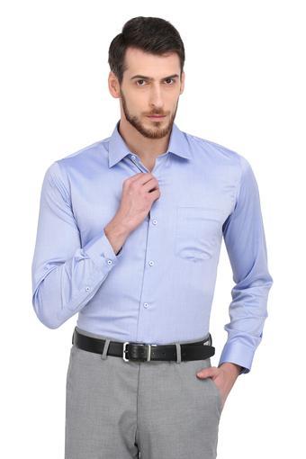 VAN HEUSEN -  Mid BlueFormal Shirts - Main