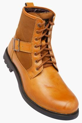 ALBERTO TORRESI Mens Leather Lace Up Boots - 202171290