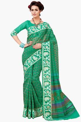 ASHIKA Womens Designer Cotton Printed Saree - 202338223