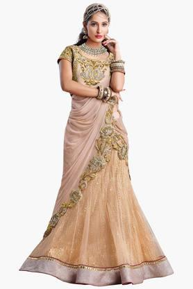 MAHOTSAV Womens Embellished Semi-stitched Lehenga Choli - 201661626