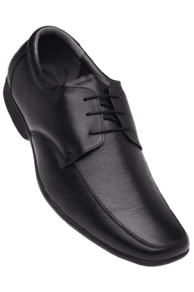 IWALKMens Black Leather Formal Lace Up Shoe