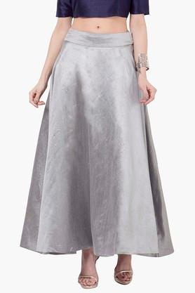 INDYA Womens Flared Maxi Skirt - 201845626