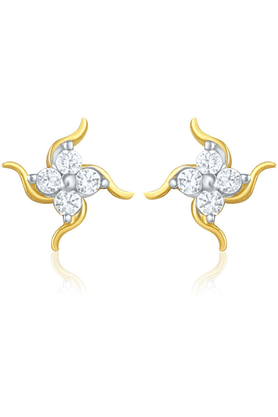 MAHI Mahi Gold Plated Earrings With CZ For Women ER1103753G