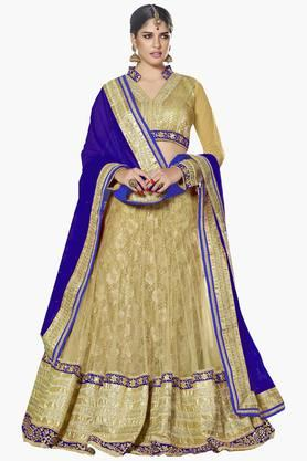 MAHOTSAV Womens Embellished Semi-stitched Lehenga Choli - 201643954